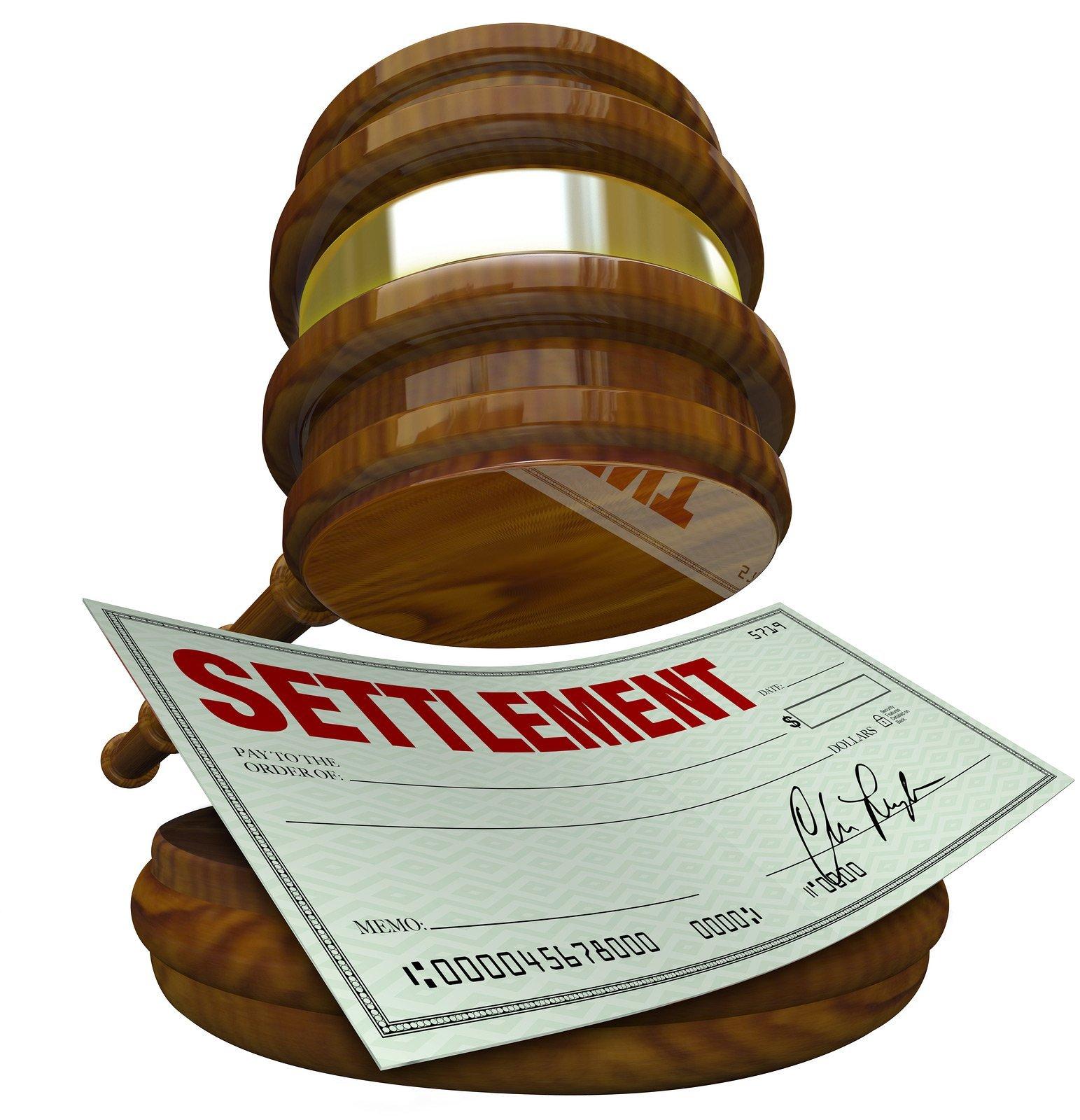 gavel showing settlement
